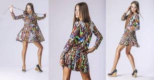 Fashion model beautiful woman Studio photography Royalty Free Stock Photography