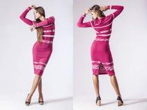 Fashion model beautiful woman Studio photography Royalty Free Stock Photo