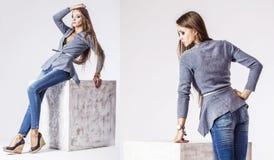 Fashion model beautiful woman Studio photography Stock Image