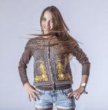 Fashion model beautiful woman Studio photography Stock Images
