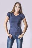 Fashion model beautiful woman Studio photography Royalty Free Stock Images