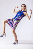 Fashion model beautiful woman Studio photography Stock Photography