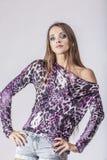 Fashion model beautiful woman Studio photography Royalty Free Stock Photos