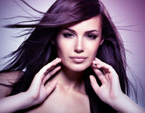 Fashion model  with beauty long straight hair. Stock Photography