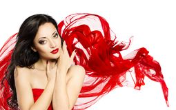 Fashion Model Beauty Portrait, Asian Woman Face Makeup royalty free stock photography