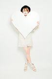 Fashion Model with Big Heart Royalty Free Stock Photo