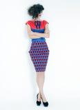 Fashion model in bright dress Stock Photo