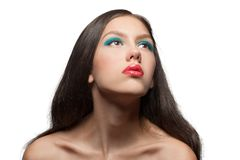 Fashion model with bright make-up Stock Photo