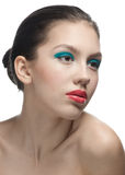Fashion model with bright make-up Royalty Free Stock Images