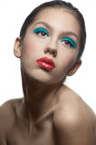 Fashion model with bright make-up Stock Image