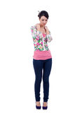 Fashion model in casual clothing Stock Photo