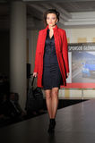 Fashion model on the catwalk Royalty Free Stock Photo