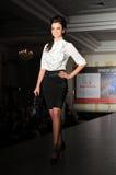 Fashion model on the catwalk Royalty Free Stock Image