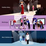 Fashion model catwalk banner set Stock Image