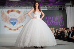 Fashion model on catwalk Royalty Free Stock Photography
