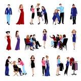 Fashion model catwalk icons Stock Photography