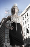 Fashion model in city Stock Photo