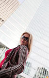 Fashion model in city Stock Photos