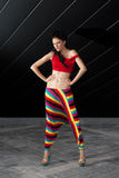 Fashion model in colorful outfit Royalty Free Stock Photography
