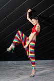 Fashion model in colorful outfit Royalty Free Stock Photo