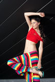 Fashion model in colorful outfit Stock Photography