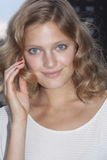 Fashion model Constance Jablonski beauty portrait in New York Royalty Free Stock Photography