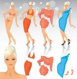 Fashion model with costume set Stock Photos