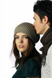 Fashion Model Couple Looking At Camera Stock Images