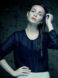 Fashion model with a creative hairstyling Stock Image