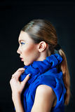Fashion model with creative make up Royalty Free Stock Photos