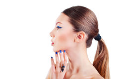 Fashion model with  creative make up Royalty Free Stock Photography