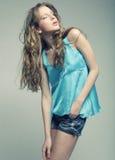 Fashion Model with curly hair. High-End Fashion Model with curly hair Royalty Free Stock Photos