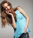Fashion Model with curly hair. High-End Fashion Model with curly hair Royalty Free Stock Photography