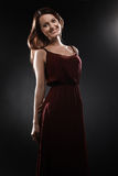 Fashion model Elegant woman smiling portrait Stock Photography