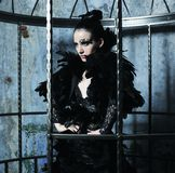 Fashion model in fantasy dress Stock Photo