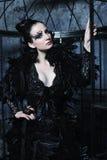 Fashion model in fantasy dress Royalty Free Stock Photos