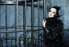 Fashion model in fantasy dress Stock Photos