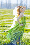 Fashion model in field Stock Images