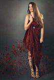 Fashion model in fine art portrait Royalty Free Stock Photography