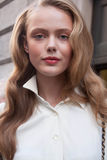 Fashion model Frida Gustavsson Beauty portrait Royalty Free Stock Photos
