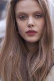 Fashion model Frida Gustavsson portrait in New York Royalty Free Stock Image