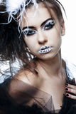 Fashion model with full make-up. Royalty Free Stock Photo