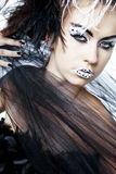 Fashion model with full make-up. Royalty Free Stock Photography