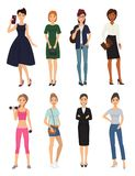 Fashion model girl clothes character looks style elegant woman shopping glamour feemale girlfriends stylish clothing Royalty Free Stock Photography