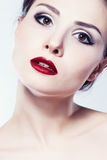 Fashion model girl face Stock Images