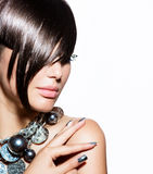 Fashion Model Girl Portrait royalty free stock photography