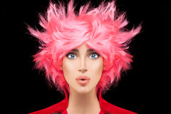 Free Fashion Model Girl With Trendy Dyed Pink Hair Stock Photo - 75900540