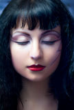 Fashion Model With Halloween Makeup Royalty Free Stock Image