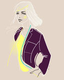 Fashion model illustration Royalty Free Stock Photo