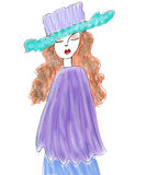 Fashion model illustration. Clip art illustration of a red head fashion model Royalty Free Stock Photography